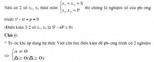 Định lý Vi-et đảo