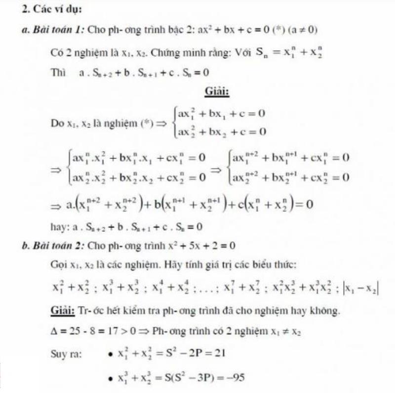 biểu thức đối xứng giữa các nghiệm