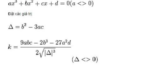 cách giả phương trình bậc ba thường gặp