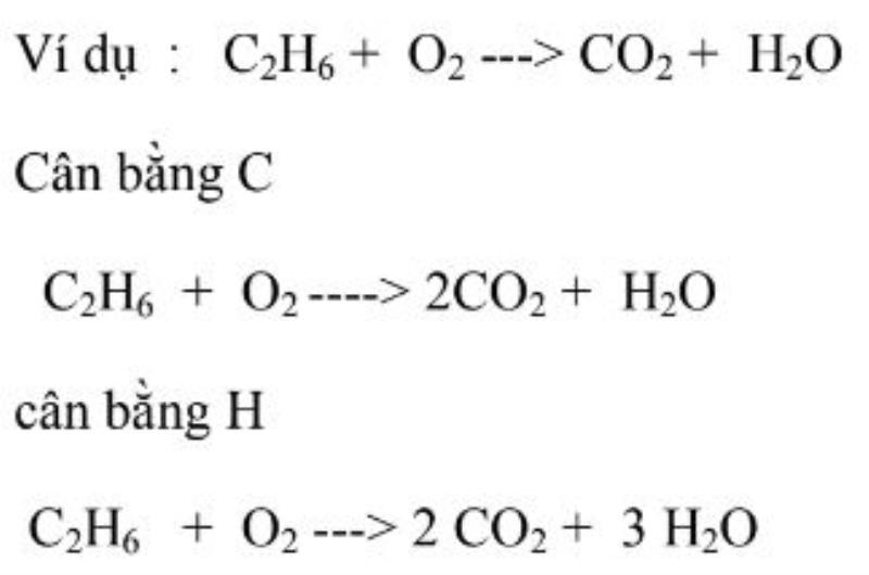 phương pháp cân bằng phản ứng cháy của chất hữu cơ
