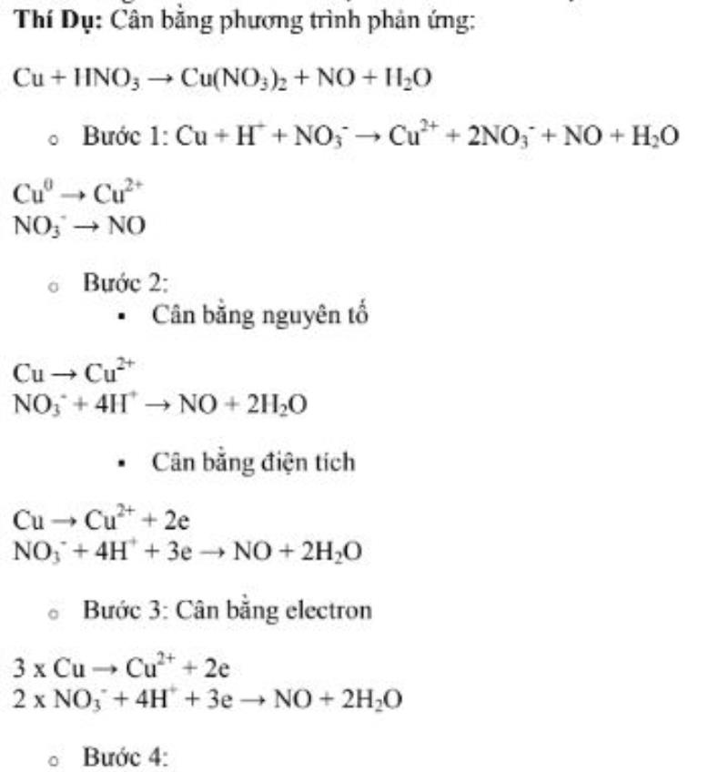 phương pháp cân bằng ion – electron
