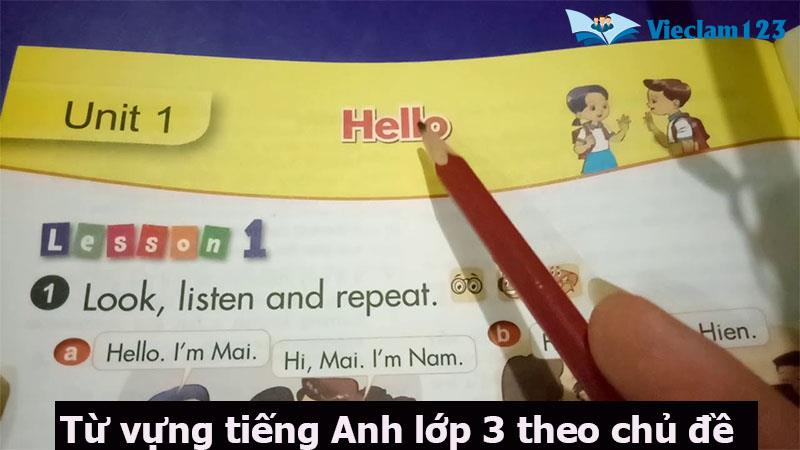 tiếng Anh lớp 3