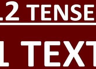 Các thì trong tiếng Anh - Tổng hợp 12 thì (12 tenses) và bài tập