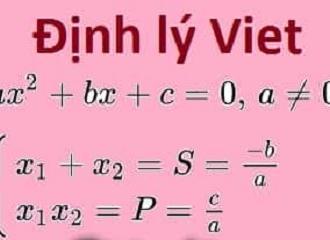 Định lý Vi-et và những điều cần biết