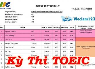 Một số thông tin cần biết khi thi TOEIC tai Bách Khoa