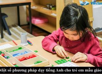 Phương pháp dạy tiếng Anh cho trẻ em mẫu giáo hiệu quả