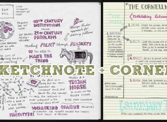 Quan hệ của hai phương pháp ghi chép Cornell Notes và Sketchnote