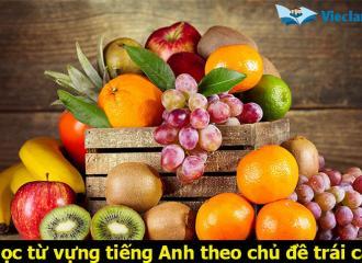 Tham khảo bài học tiếng Anh theo chủ đề trái cây đầy đủ nhất