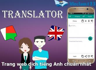 Tìm hiểu về những trang web dịch tiếng Anh tốt nhất hiện nay
