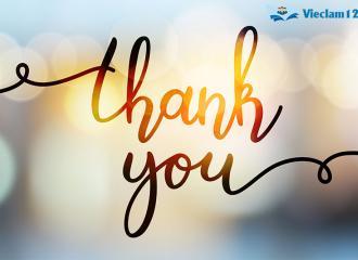 Tổng hợp những cách nói cảm ơn trong tiếng Anh