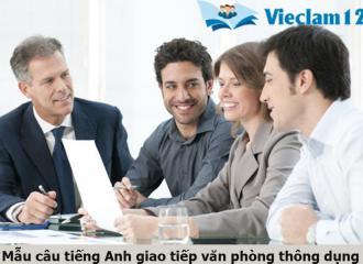 Tổng hợp từ vựng và mẫu câu tiếng Anh giao tiếp văn phòng thông dụng
